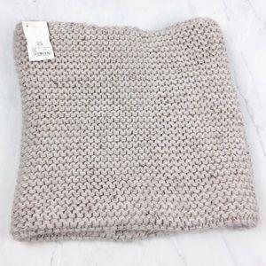 Akira Oatmeal Color Infinity Knit Scarf, NWT